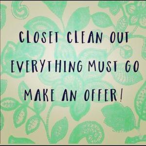 Closet is going to good will tmrw.